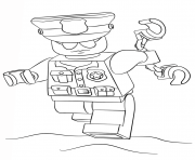 Printable lego police officer city coloring pages