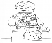 Printable lego undercover city coloring pages