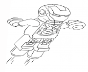 Printable Lego Iron Man Coloring Pages