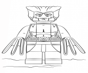lego wolverine Coloring pages Printable