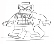 Print lego spider man coloring pages