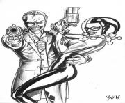 joker and harley quinn by yasinyayli harley quinn coloring pages