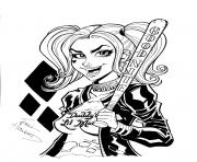 good night harley quinn coloring pages
