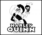 dc comics harley quinn coloring pages