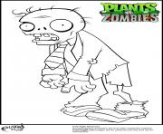 Printable  suit zombie coloring pages plants vs zombies coloring pages