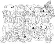 2 plants vs zombies coloring pages