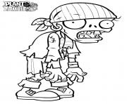 Printable zombi plants vs zombies coloring pages