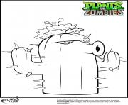 Printable cactus coloring pages plants vs zombies coloring pages