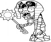 Printable egypt plants vs zombies coloring pages