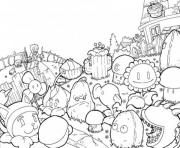 Printable world plants vs zombies coloring pages