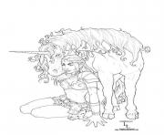 Print adult fantasy unicorn coloring pages