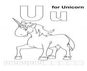 U For Unicorn unicorn coloring pages