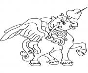 Printable Pegasus unicorn coloring pages