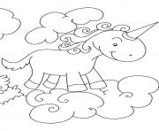 Printable European Unicorn unicorn coloring pages