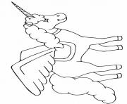 Print The Black Unicorn unicorn coloring pages