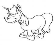 Printable Unicorn Above The Clouds unicorn coloring pages