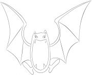 Printable 042 golbat pokemon coloring pages