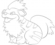 Printable 058 growlithe pokemon coloring pages