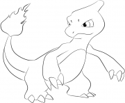 Printable 005 charmeleon pokemon coloring pages