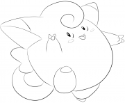 Printable 035 clefairy pokemon coloring pages