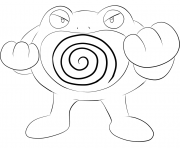 Printable 062 poliwrath pokemon coloring pages
