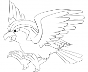 Printable 018 pidgeot pokemon coloring pages