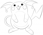 Printable 026 raichu pokemon coloring pages