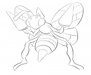 Printable 015 beedrill pokemon coloring pages