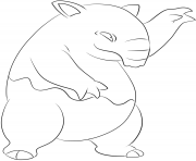 Printable 096 drowzee pokemon coloring pages