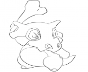Printable 104 cubone pokemon coloring pages