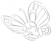 Printable 012 butterfree pokemon coloring pages