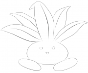 Printable 043 oddish pokemon coloring pages