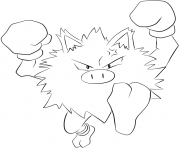 Printable 057 primeape pokemon coloring pages
