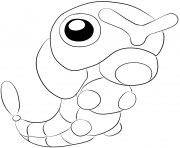 Printable 010 caterpie pokemon coloring pages