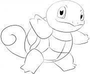 Printable 007 squirtle pokemon coloring pages