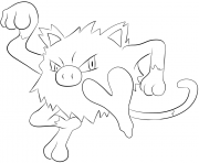 Printable 056 mankey pokemon coloring pages