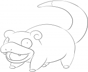 Printable 079 slowpoke pokemon coloring pages