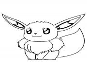 Printable evoli pokemon coloring pages
