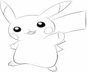 Printable 025 pikachu pokemon coloring pages