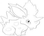 Printable 032 nidoran m pokemon coloring pages