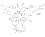 Printable 145 zapdos pokemon coloring pages