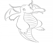 Printable 149 dragonite pokemon coloring pages