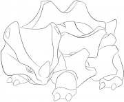 Printable 111 rhyhorn pokemon coloring pages