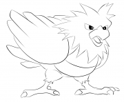 021 spearow pokemon coloring pages