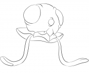 Printable 072 tentacool pokemon coloring pages