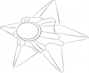 Printable 120 staryu pokemon coloring pages