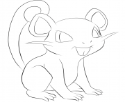 Printable 019 rattata pokemon coloring pages
