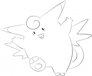 Printable 036 clefable pokemon coloring pages