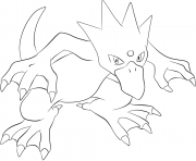 Printable 055 golduck pokemon coloring pages