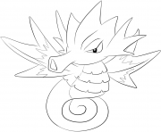Printable 117 seadra pokemon coloring pages